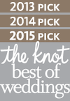 2013,2014, 2015 Pick - Best of Weddings on The Knot