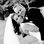 Smiling Newlyweds