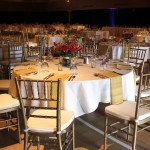Elegant Tables and Gold Chiavari Chairs