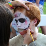 Face Painting in the Kids Tent