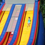 Down the Cliff Hanger Giant Slide!