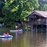 Paddle Boats on the Lake