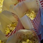 Freshly popped, buttery popcorn.