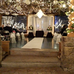 Winter Wedding Ceremony Drapes