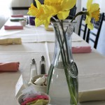 Easter Brunch Tables in Cheers