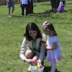 Mother and Children at the Egg Hunt