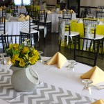 Grey, Yellow, and Chevron Theme in the Hall