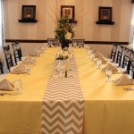 Yellow & Gray Chevron Head Table