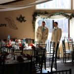 The Groomsmen await the Bridesmaides