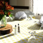 Summery Yellow & Orange Table Decor
