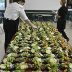 Assembling Salads for an Off-Site Corporate Dinner