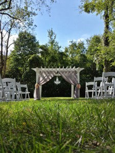 The Garden Arbor, Draped and Decorated