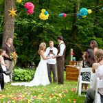 Outdoor ceremony in the park.