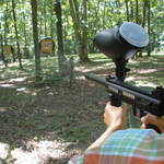 Paintball Target Shooting.