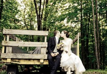 Wedding Wagon Kiss