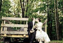 Wedding Wagon Kiss