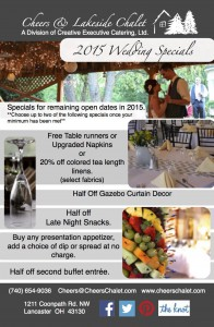 Special pricing for 2015 weddings